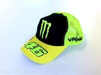 Бейсболка   46 VALENTINO ROSSI AND MONSTER ENERGY   (желто-черная, сетка)